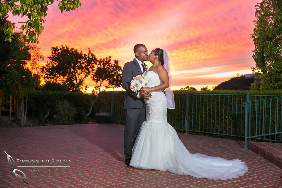 Sunset wedding in Los Angeles by Temecula  Wedding Photographer at Castaway Burbank