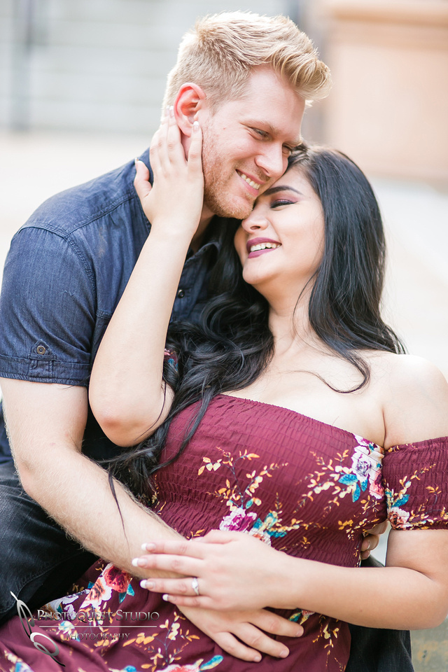 Lovely moment at Engagement Photo at Hillcrest Park, Downtown Fullerton
