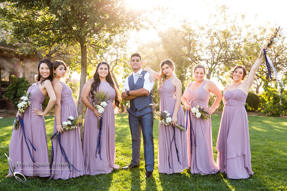 Wedding gang at Wiens Winery by Temecula wedding photographer