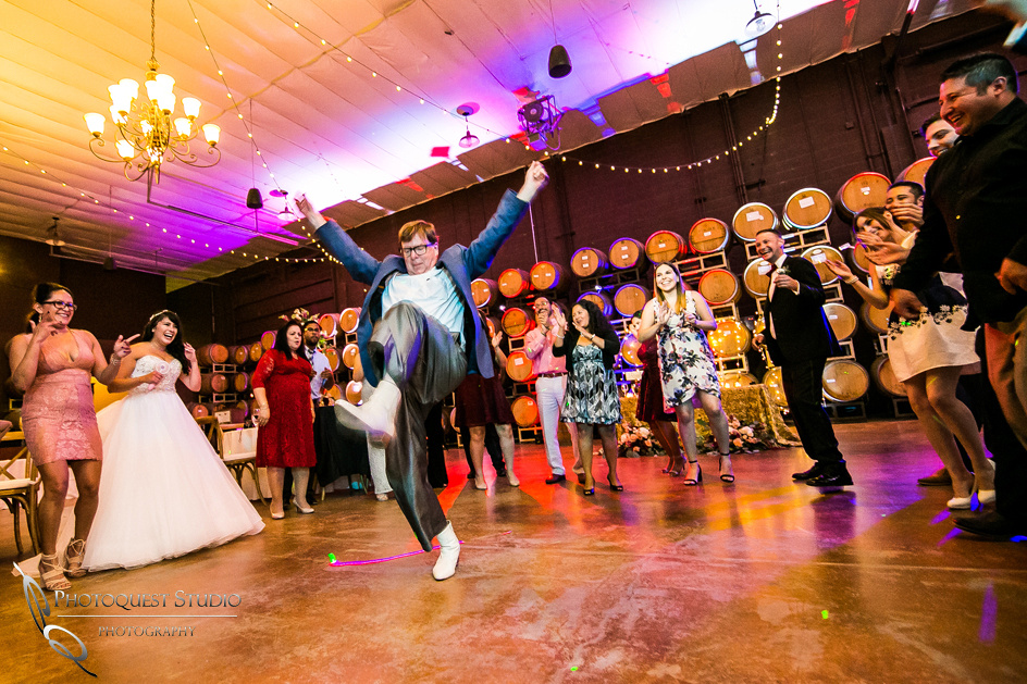 Dancing all night by Temecula Winery Wedding Photographer