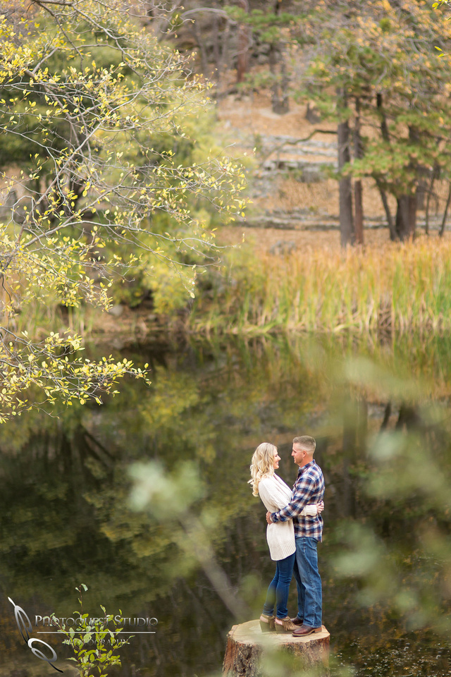 Engagement Photo at Lake Fulmor, Idyllwild