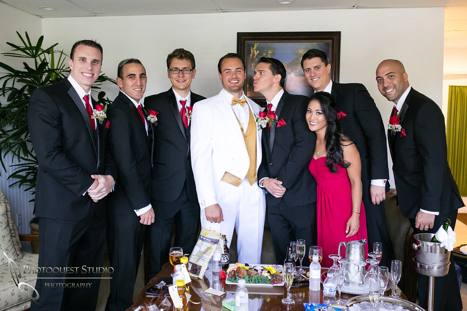 the groom and his budds