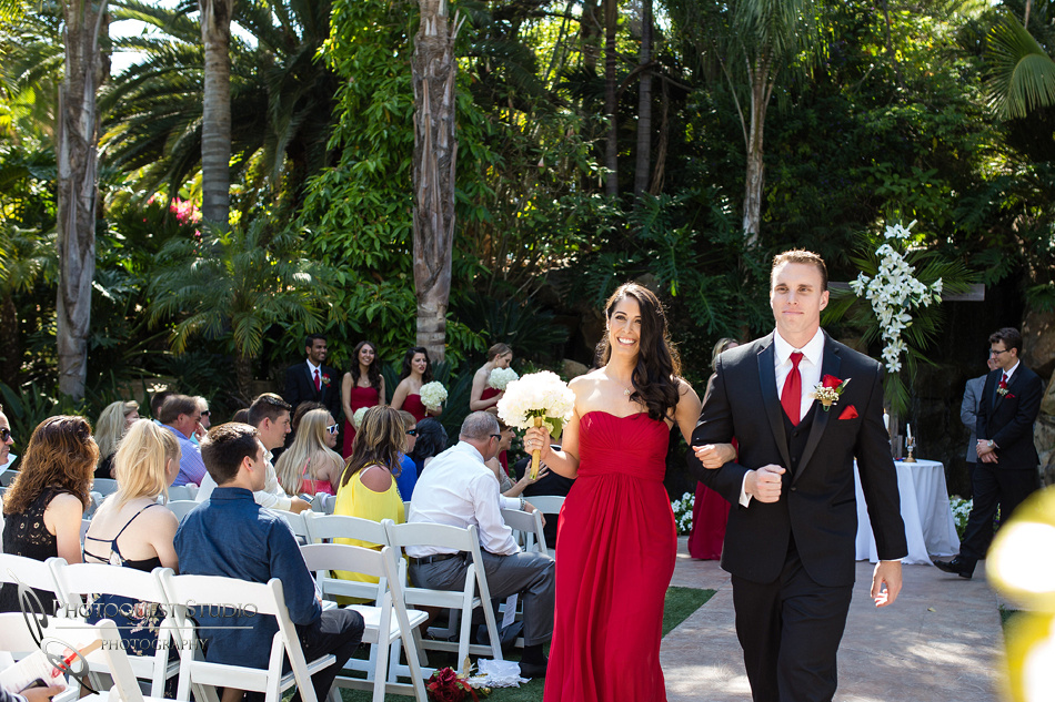 exiting fallbrook wedding ceremony