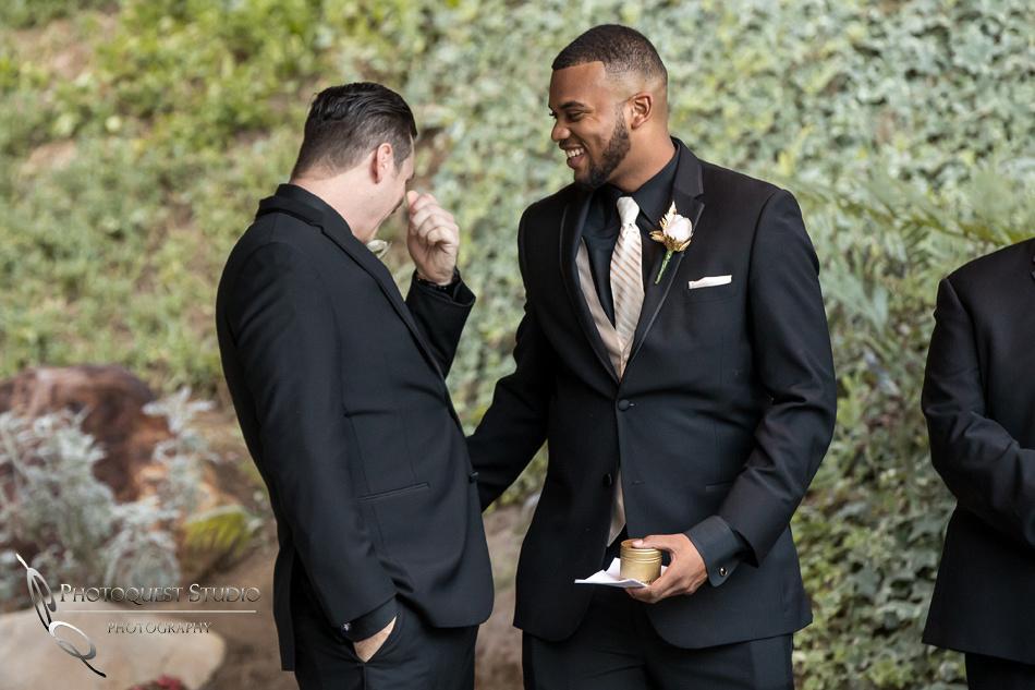 Crying groom by Fallbrook, Temecula Wedding Photographer