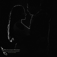 Love in the dard by Temecula wedding photographer