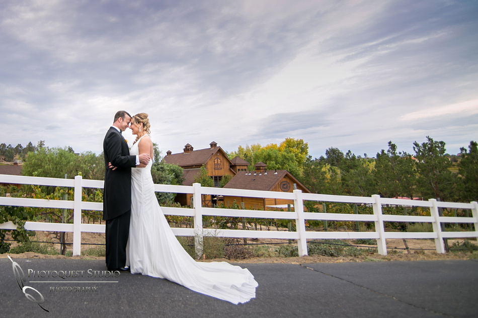 Bride & Groom at Longshadow Ranch Winery photo by Temecula Wedding Photographer