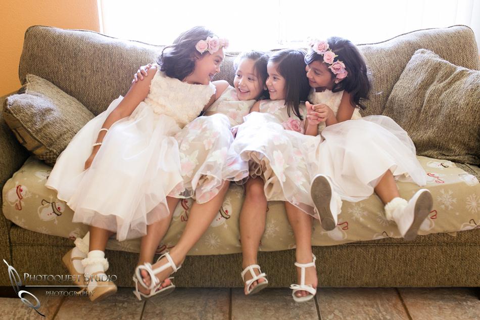 4 pretty flower girls