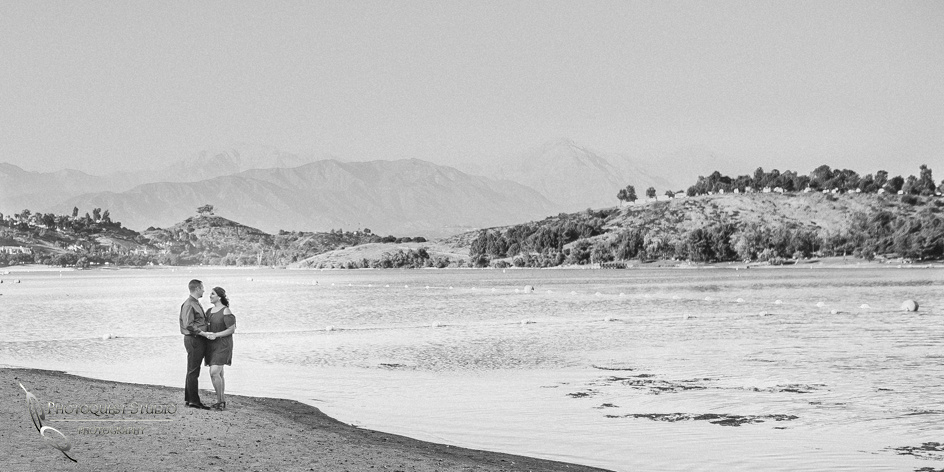Us the lake and the mountain, Temecula-Wedding-Photographer,-Engagement-Photo