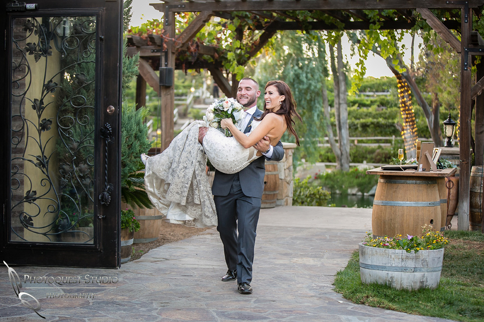 Groom picked up the Bride at Lake Oak Meadows, Temecula Photographer of Photoquest Studio