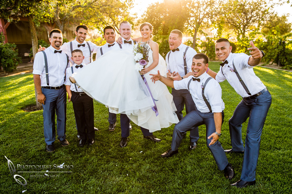 Wedding fun photo at Wiens Winery by Temecula wedding photographer