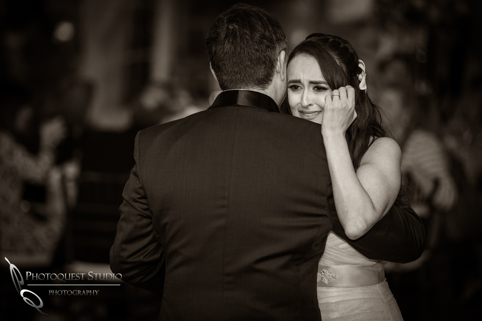 The emotional moment of the father and daughter dance.