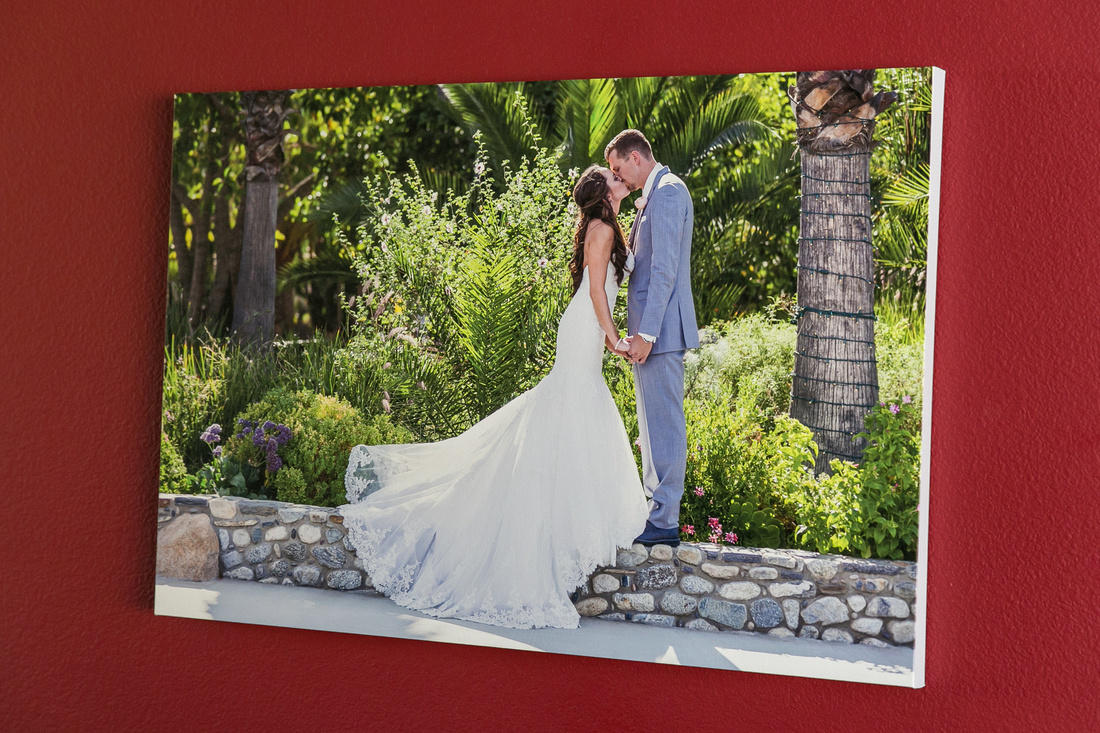 Custom Canvas at Pala Mesa Resort Fallbook wedding by Temecula Wedding Photographer