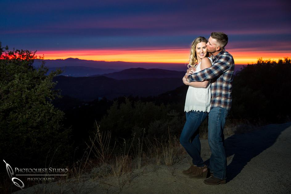 emecula Wedding Photographers at sunset