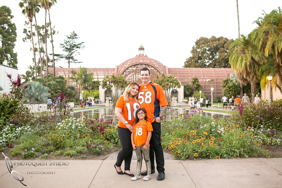 Bronco engagement photo at Balboa Park, San Diego by Temecula, San Diego Wedding Photographer