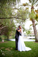 Wedding 1st look at the Orchard, Wedgewood Wedding in Menifee by Temecula Wedding Photographer
