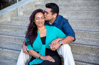 San Diego Convention Center, Gaslamp District , Downtown Engagement Photo - Synthia & Mike