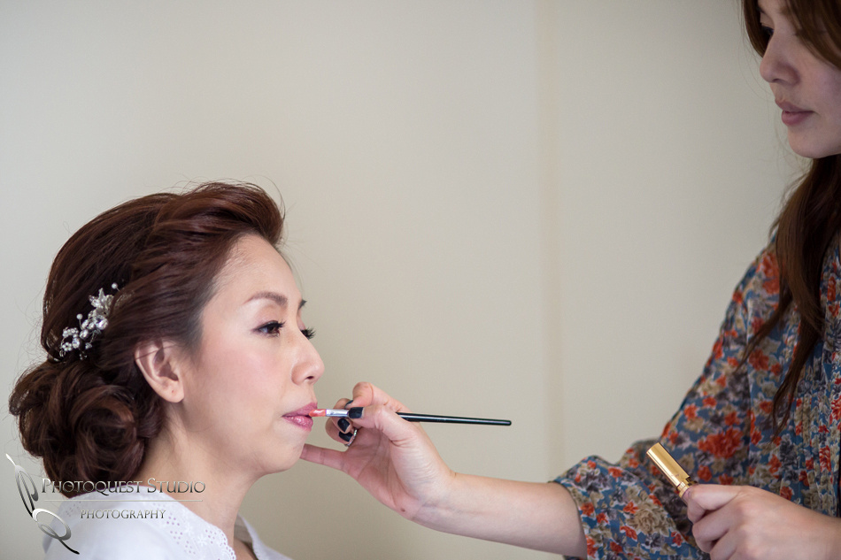 Bride makeup by Chiali Meng, Chappel of Orange and Brodard Chateau Wedding - Uyen and Danny