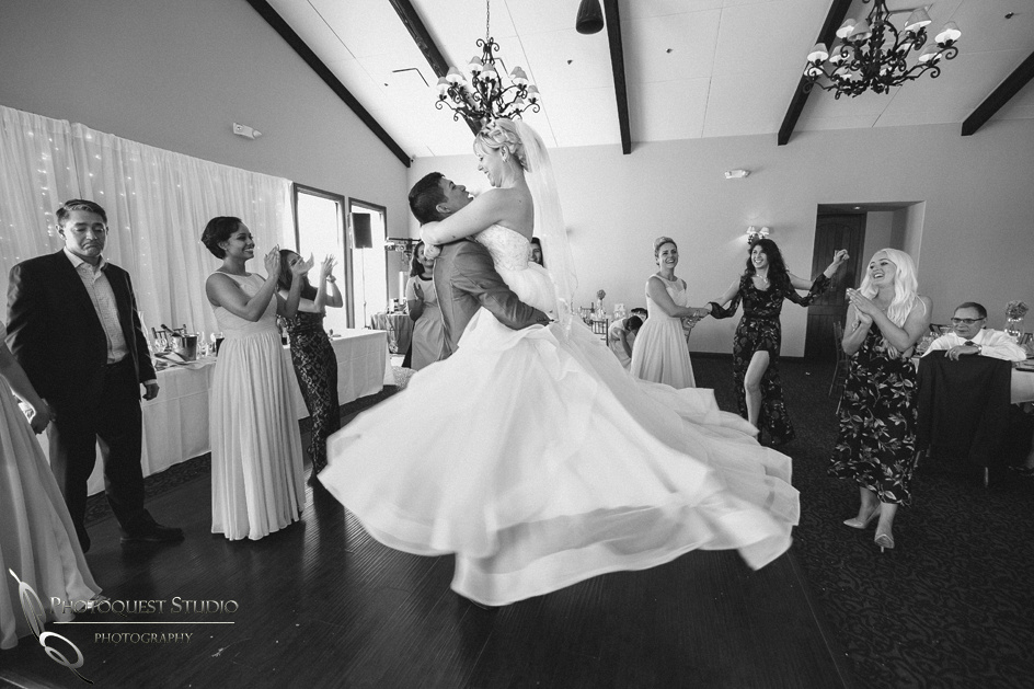 Dancing like a beautiful swans, Temecula wedding photographer at Wedgewood San Clemente