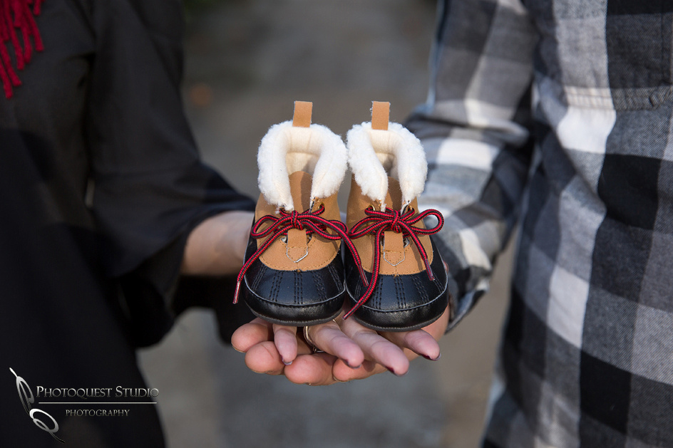 baby shoes, baby announcement photo
