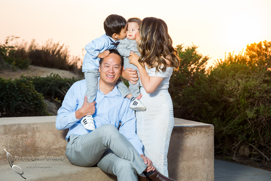 kissing at family photo by temecula family photographer