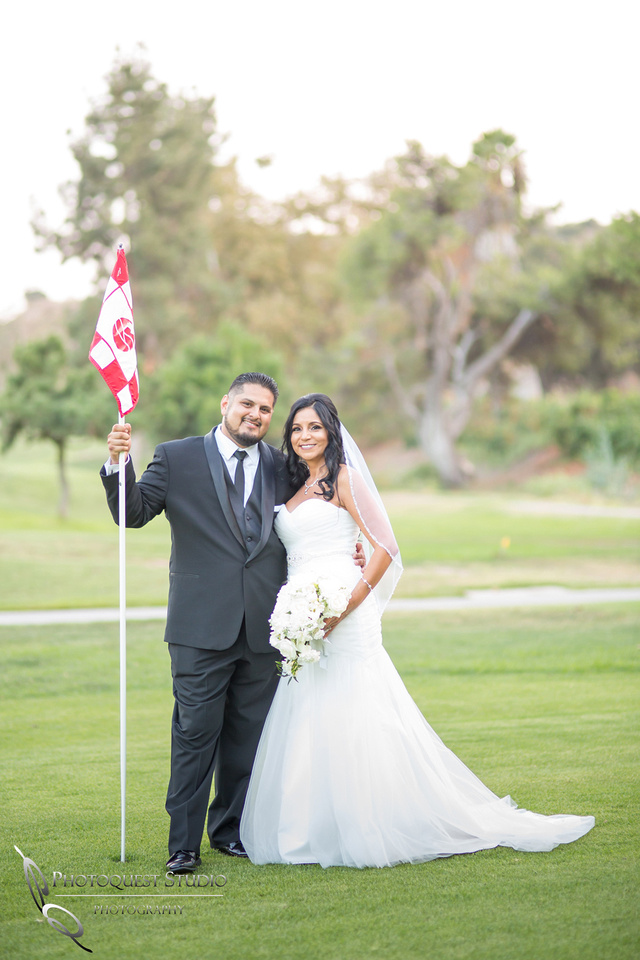 Pala Mesa Resort golf courst Wedding Photo