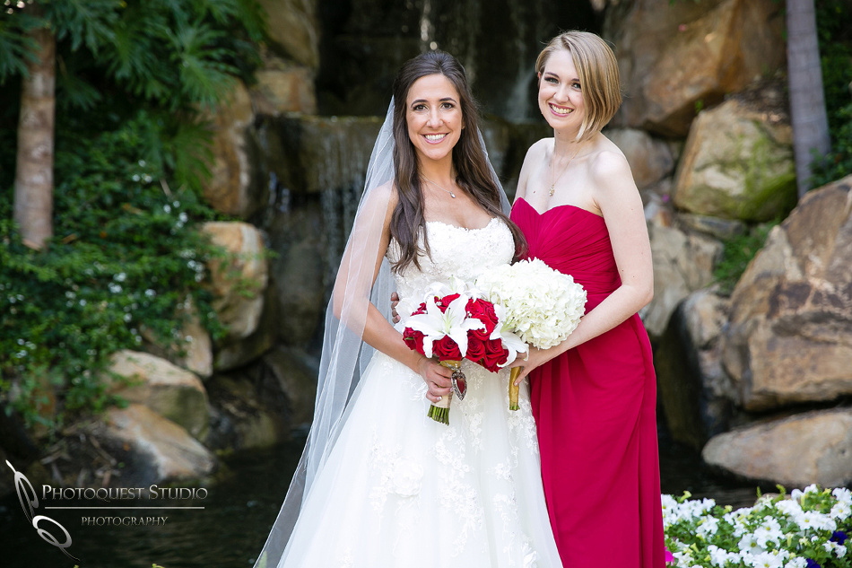 happy bride and bridesmaid