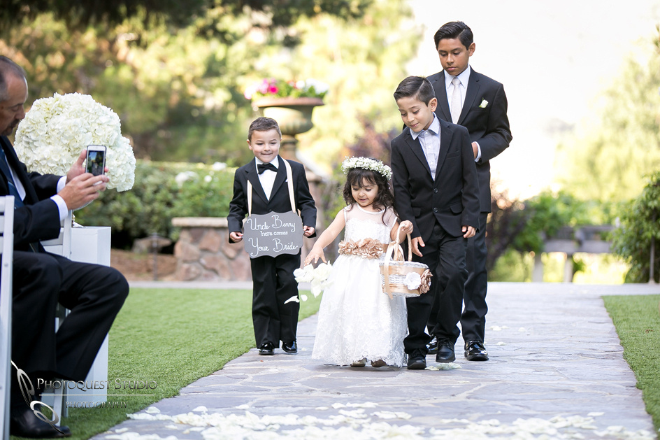 Flower girl and ring boys