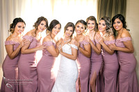 stunning looking bride and bridesmaids