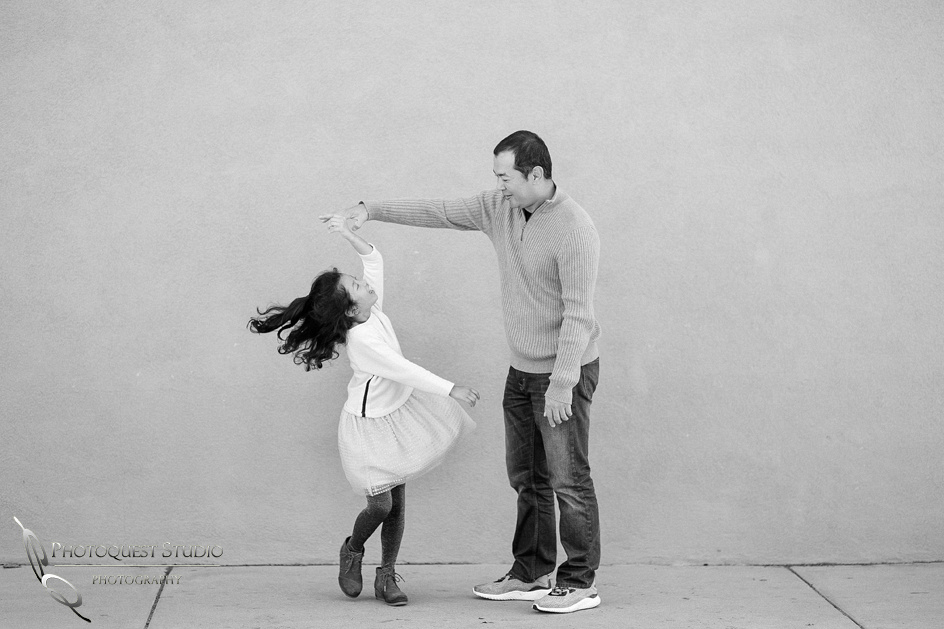 Dancing with Father, Outdoor Family Photo by Temecula, Menifee, Murrieta Wedding Photographer