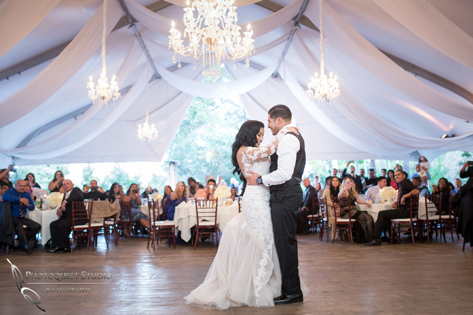 First dance at Pala Mesa Resort, Fallbrook, San Diego, California