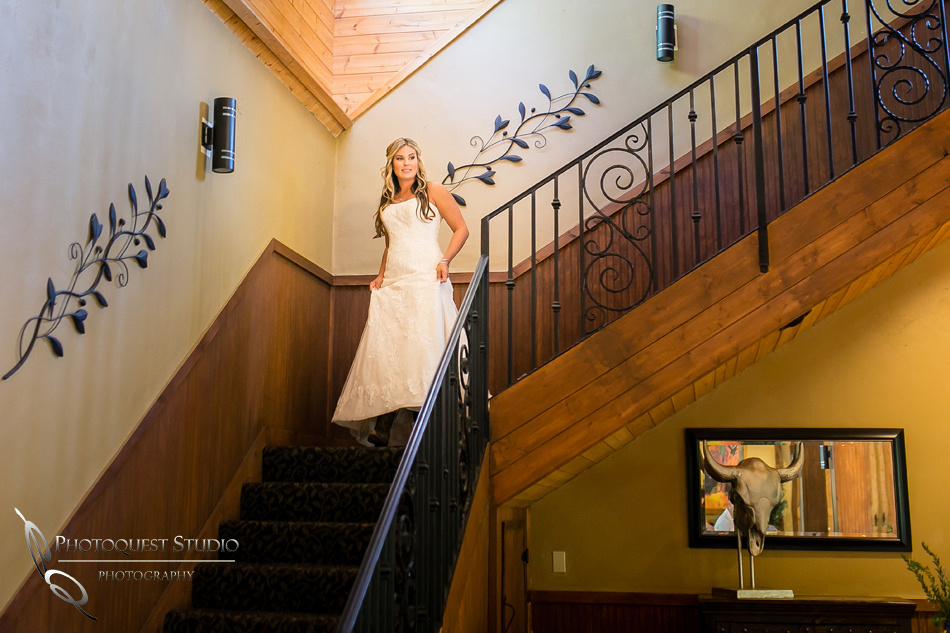 Downstair for first look, Wedding at Longshadow Ranch Winery by Temecula Wedding Photographer