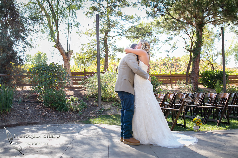 first look sweet moment by Temecula Wedding Photographer