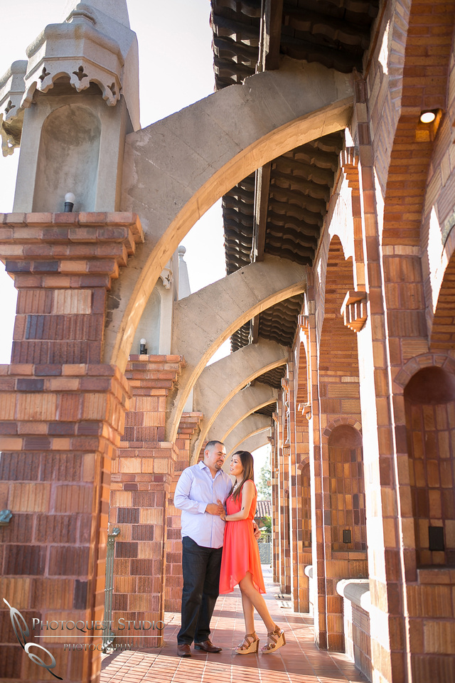 Let's dance, Engagement Photo at Mission Inn Hotel