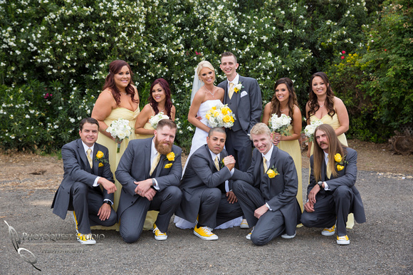 happy bridal party by Temecula Wedding Photographer of Photoquest Studio, Photography