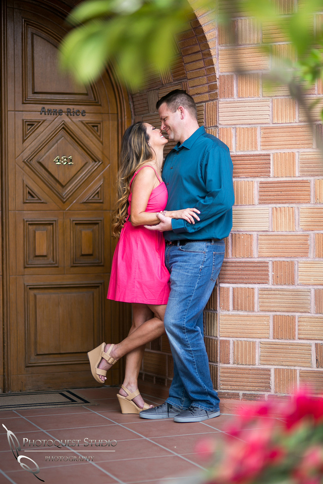 Mission Inn Hotel, moment of love, Engagement Photo