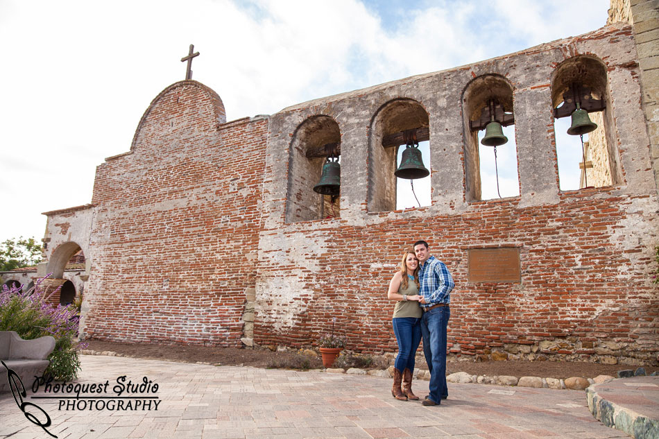 Mission San Juan Capistrano Engagement Photos by Temecula Wedding Photographer - Longshadow Ranch Winery Wedding
