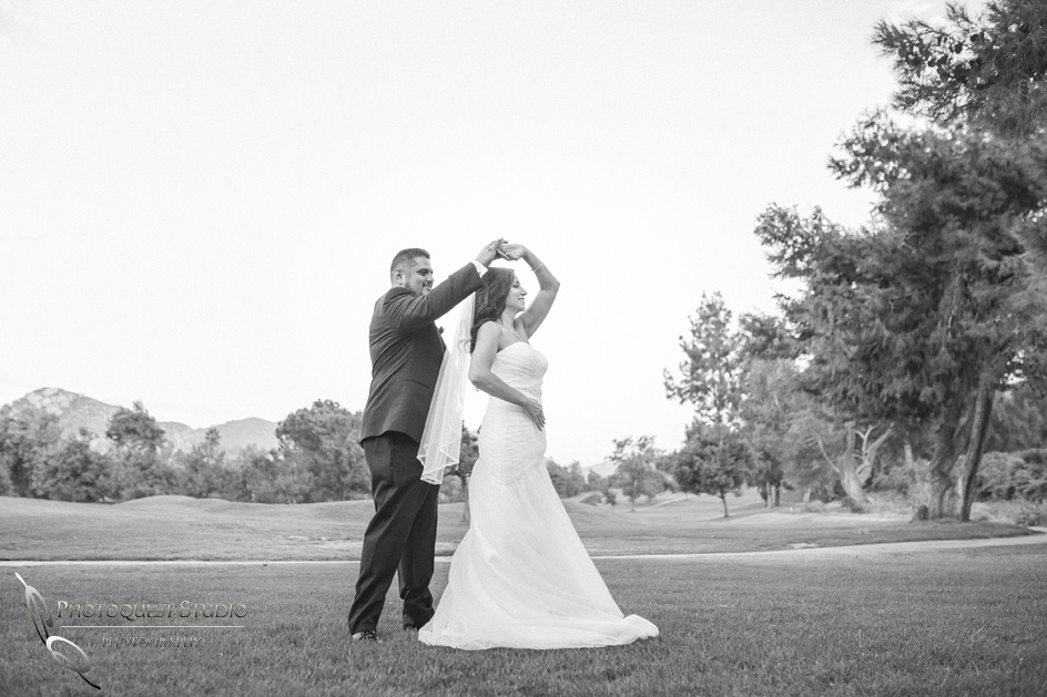 Dancing time by Fallbrook wedding Photographer