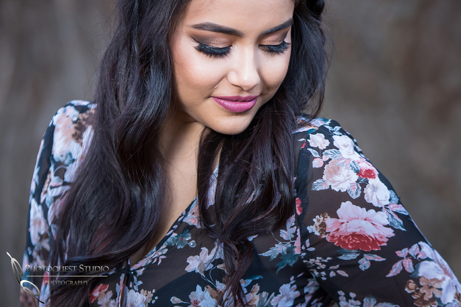 Beauty with perfect makeup at Engagement photo by Temecula wedding photographer