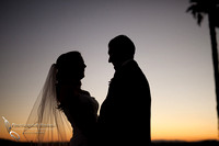 fall wedding at sunset by Falkner winery wine wedding by temecula wedding photographer