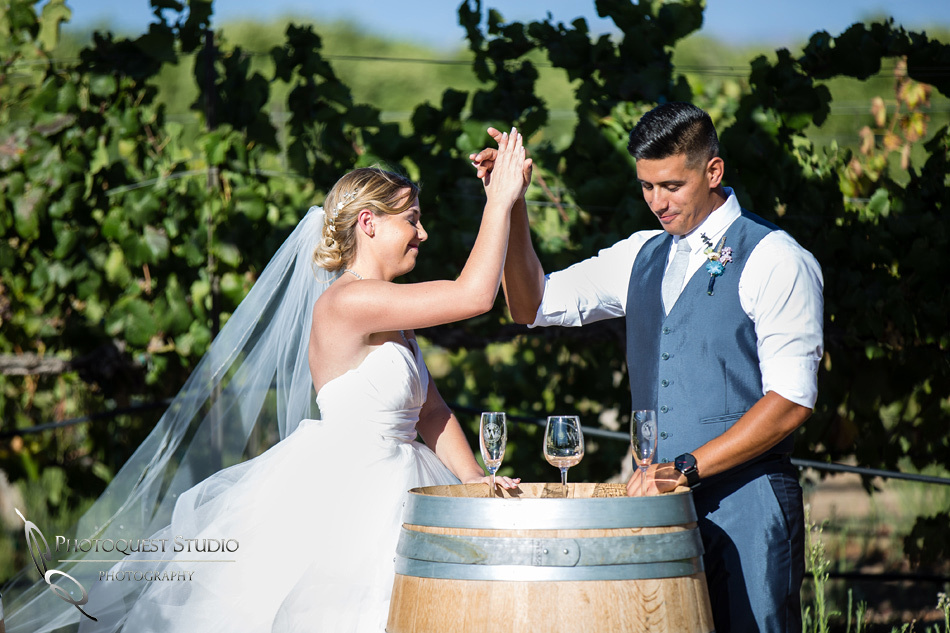 Wedding photo at Wiens Winery by Temecula wedding photographer of Photoquest Studio, Samantha & Joe (32)