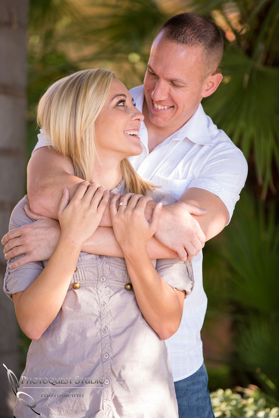The look of love at Engagement photo at South Coast Winery, California by Temecula Wedding Photographer