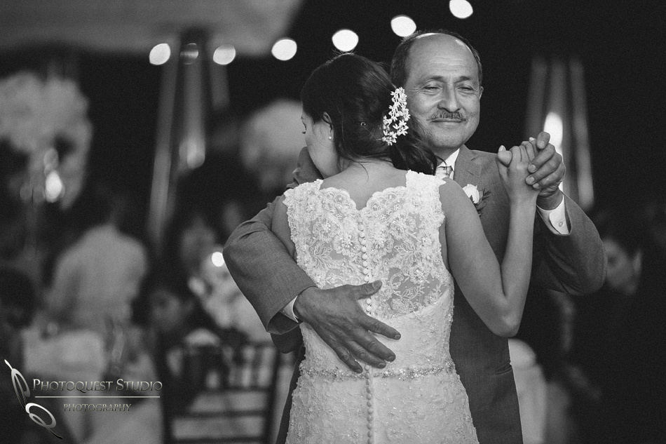 father and daughter dance at pala mesa resort wedding