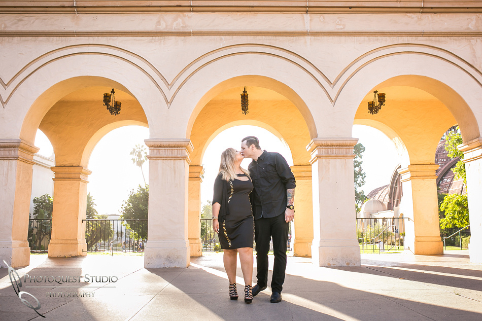 just the two of us at Balboa Park, San Diego documented by Temecula, San Diego Wedding Photographer