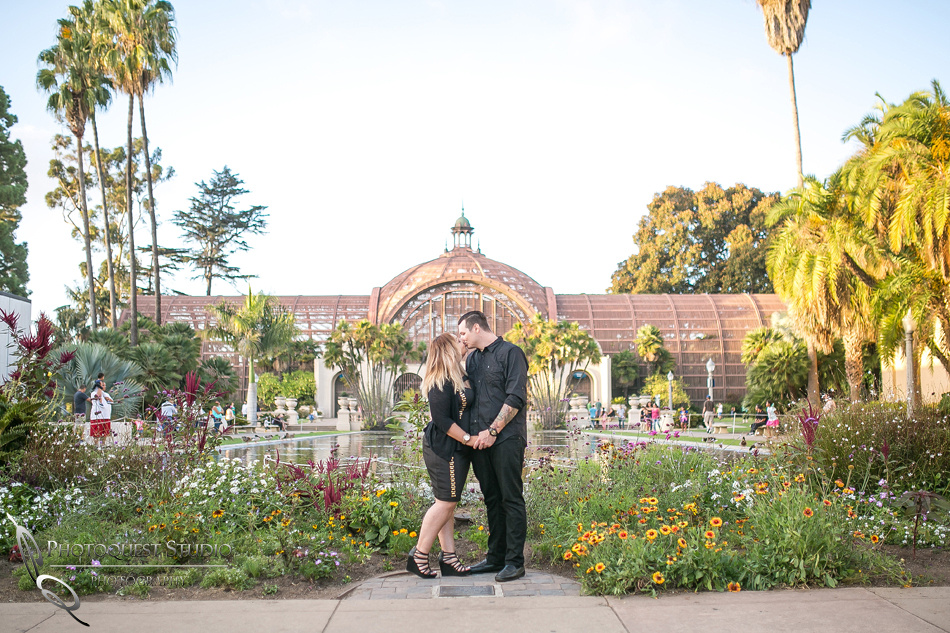 Balboa park, san diego engagement photo by Temecula, San Diego Wedding Photographer