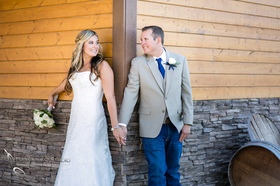 Lovely couple at Longshadow Ranch Winery by Temecula Wedding Photographer