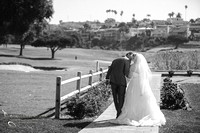 Kissing her at Wedgewood San Clemente, Orange County Wedding, Kristine and Manny