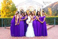 Bride and her girls at Sunset Wedding, Castaway, Burbank by Los Angele, Temecula Wedding Photographer