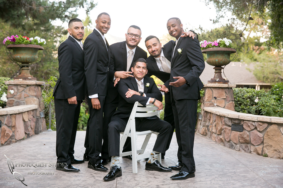 The Groom and his Men at Pala Mesa Resort, Fallbrook, San Diego, California.