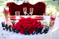 sweetheart table with roses