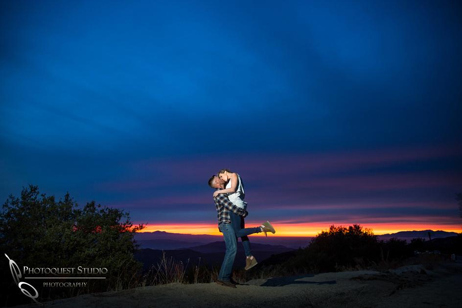 Temecula Wedding Photographer, sunset engagement photo